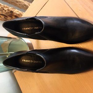 NWOT Franco Sarto Women's Black Leather High He